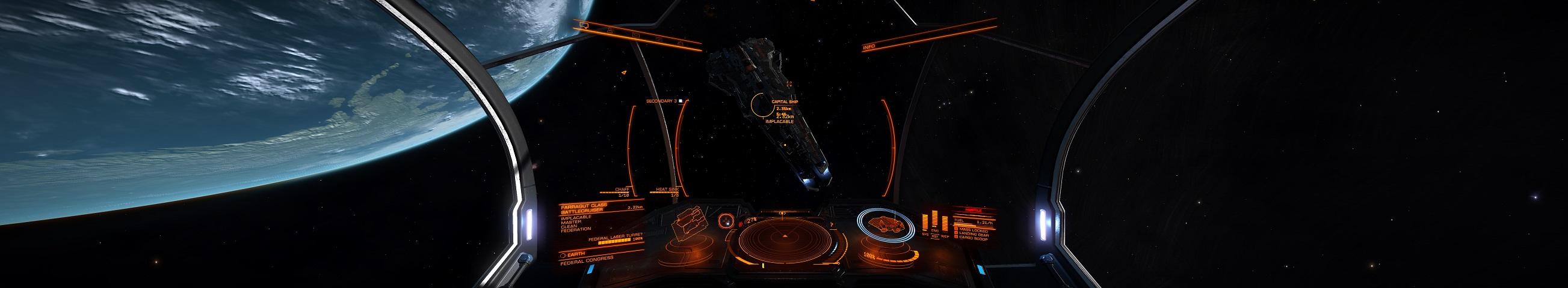 Im Sol System ging es los, zufällig ein Capital Ship getroffen...
