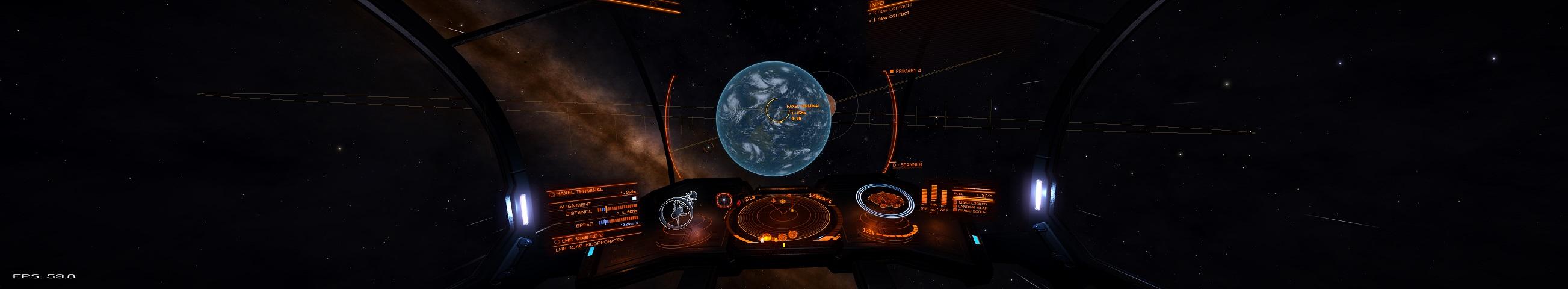 Ist das die Erde? Nein, erdähnlicher Planet im System LHS 1348 in der Nähe der Haxel Station.
