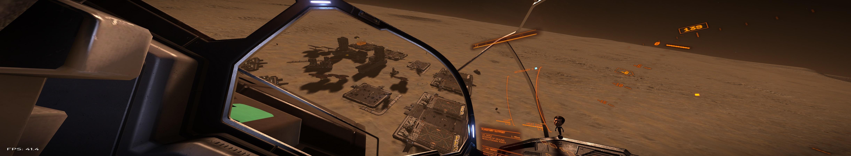 Blick auf die Planetenstation Lee Depot